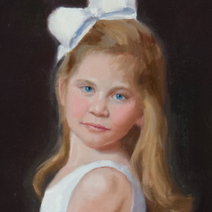 Mary Madison portrait. oil on canvas.