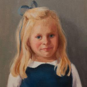 """Ellie portrait. 14"""" x 18"""" oil on canvas."""