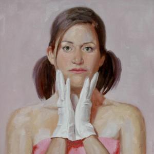 """""""Nina"""" 30"""" x 30"""" oil on canvas. SOLD."""