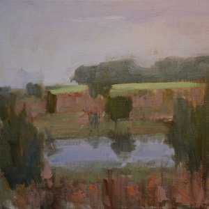 "Morning Pond. 12"" x 16"" oil on canvas. NFS."