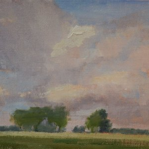 "Cloud Study. 9""x12"" oil on canvas. SOLD."