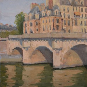 """Pont Neuf"" 12""x16"" oil on canvas. Plein air Paris."