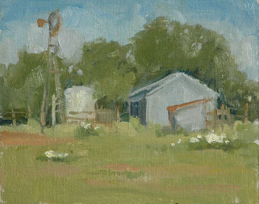 Chappell Hill, Texas plein air painting