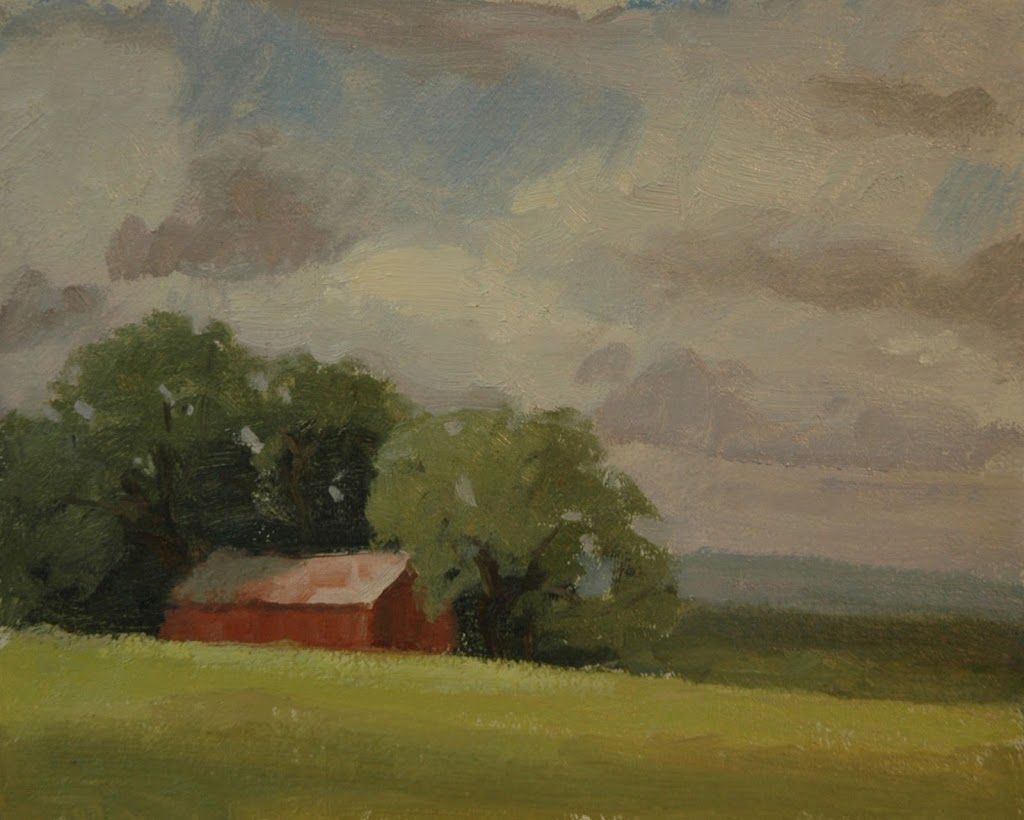 A day of plein air painting in Texas