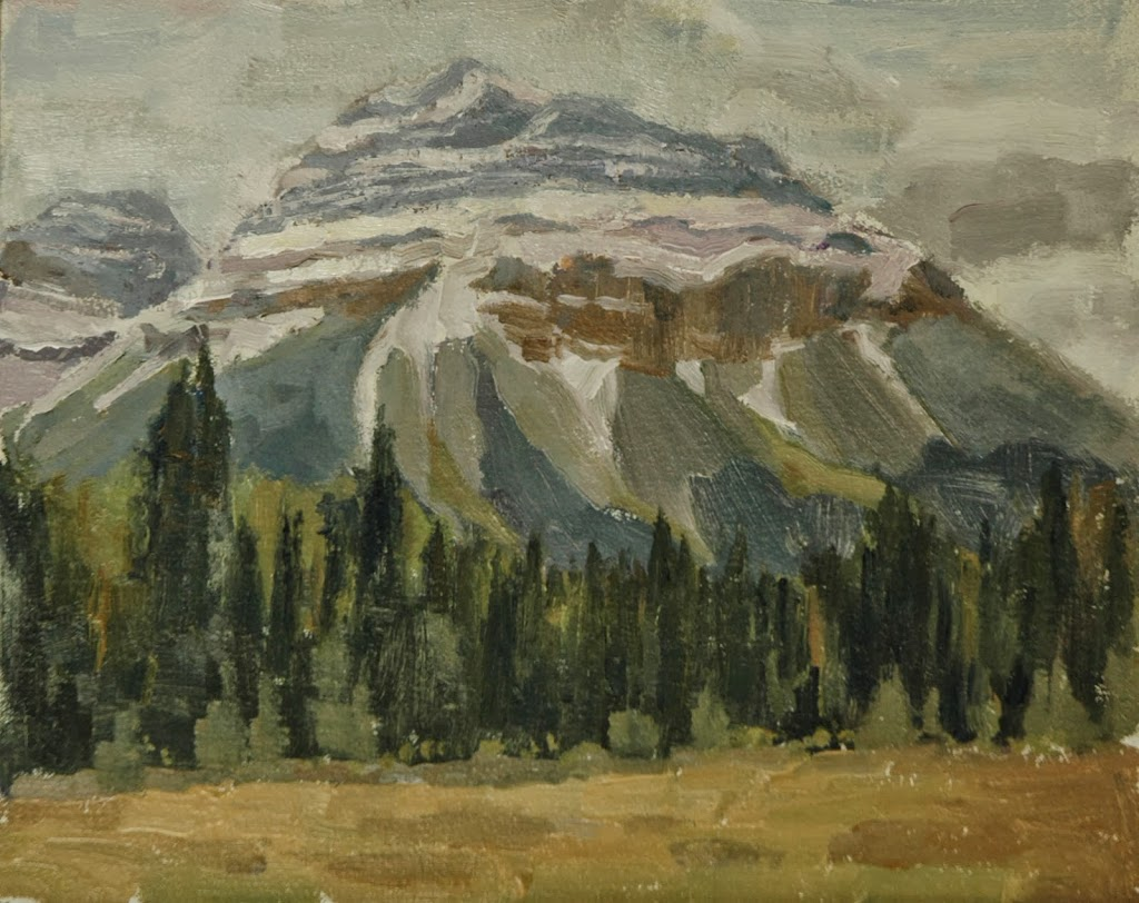 Painting in the Canadian Rockies