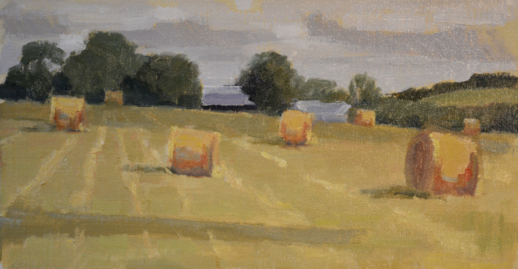 """The Field and I"" * and Hay Bales"