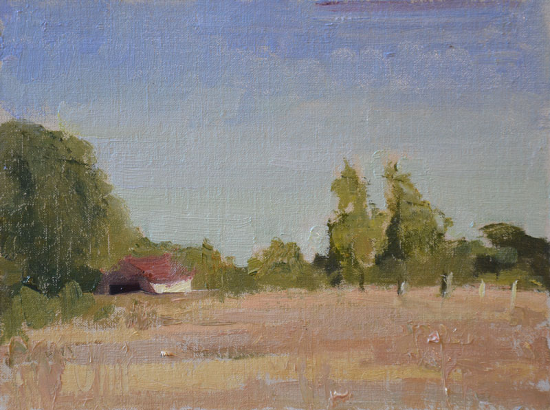 Two Day Plein Air Painting among the hay bales and cows but most definitely not rocks.