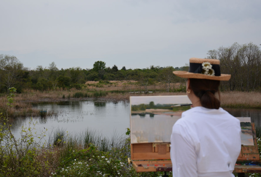 Painting Schumann's Pond plein air in the Texas hill country.