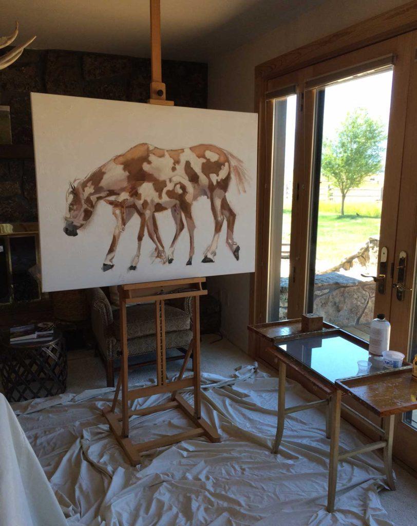 """""""Paints"""" in progress."""