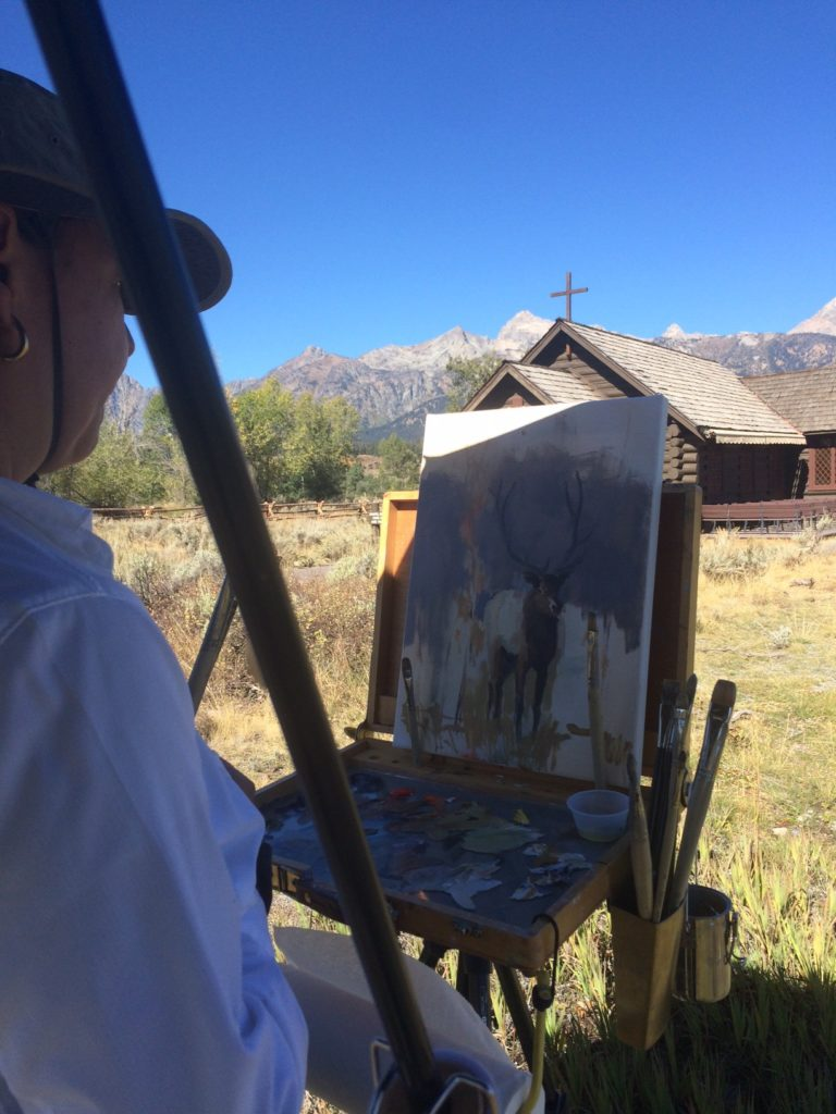 Painting with the Teton Plein Air Paintiers in Jackson Hole, Wyoming.