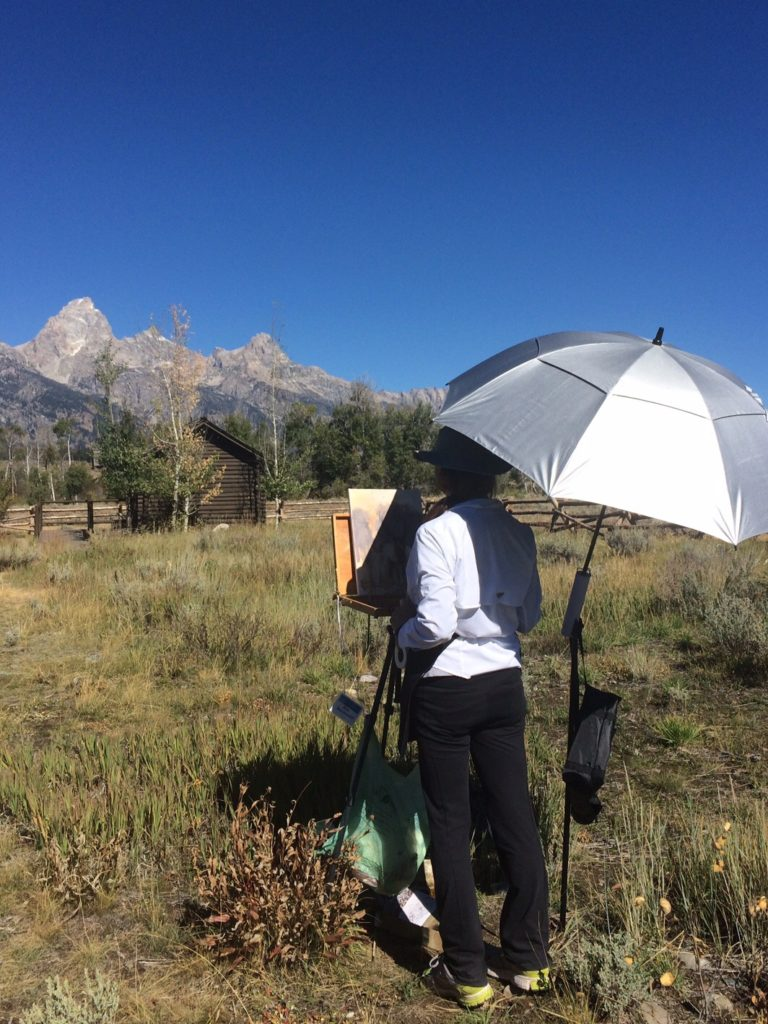 Painting in Grand Teton National Park.