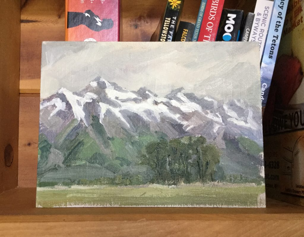 Painting the Tetons