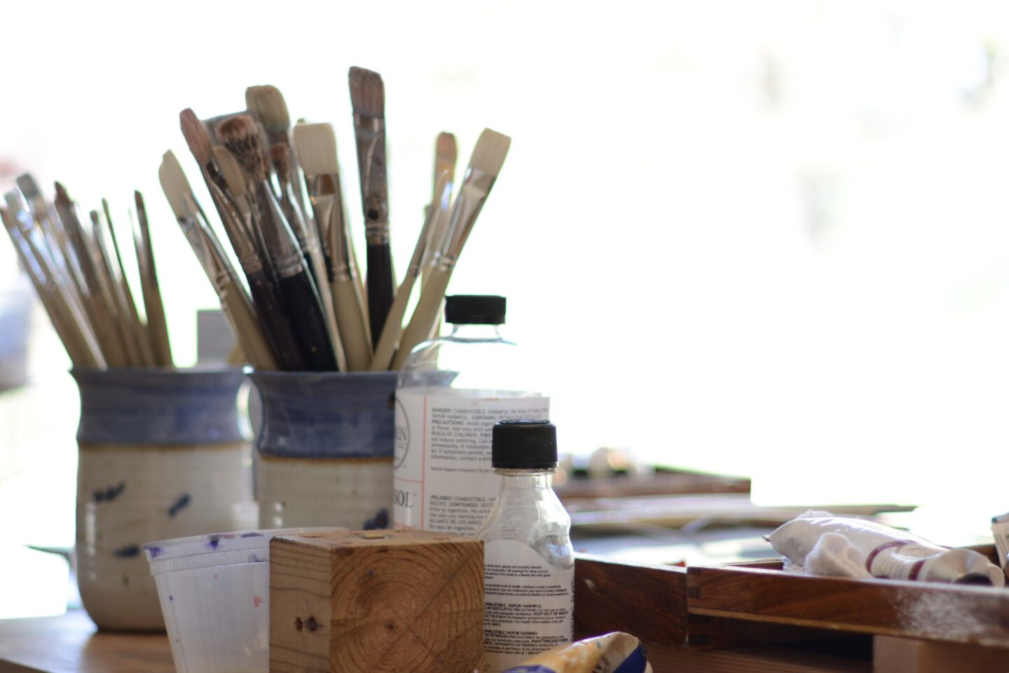 Art supplies in my studio.