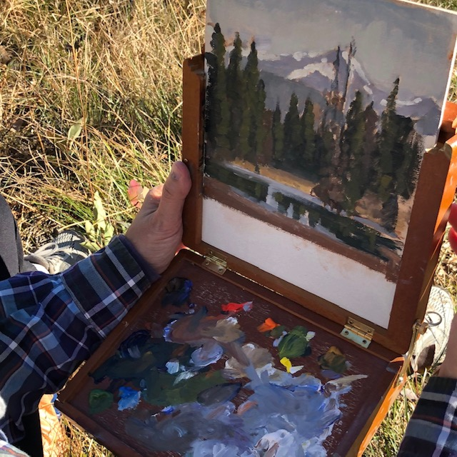 Painting a Mountain Pond