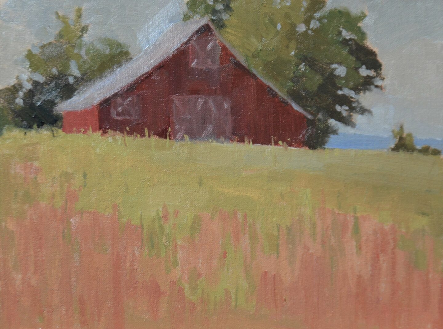 Texas Barn plein air oil painting.
