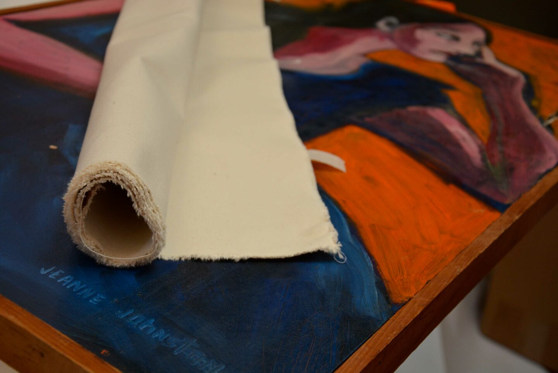 Canvas to repair art.