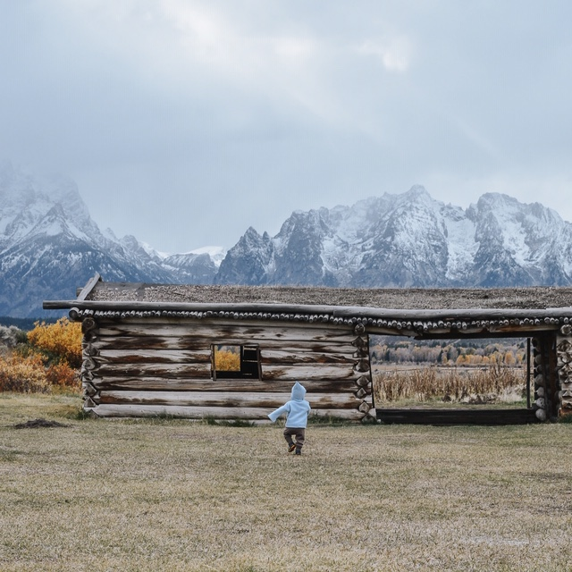 Cunningham Cabin in Grand Teton National Park. Jackson Hole, WY.