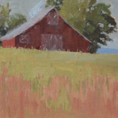 Texas barn plein air