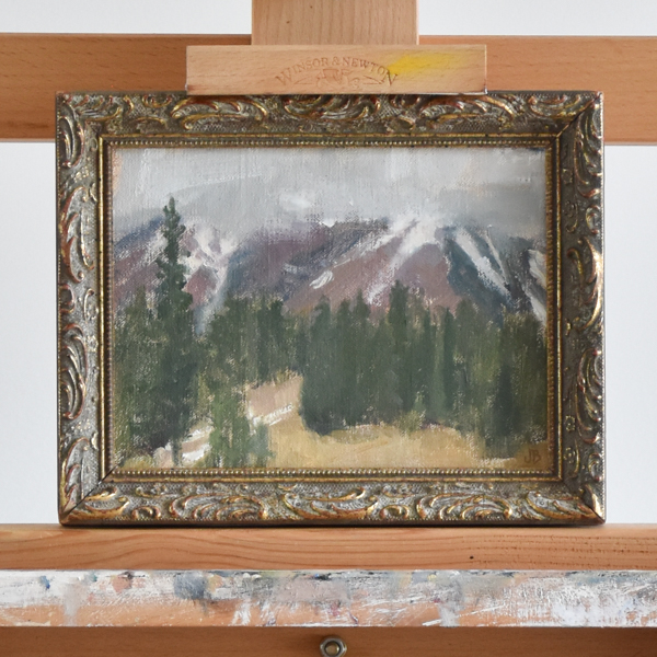 Stormy Yellowstone plein air painting