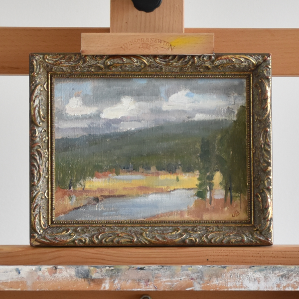 Yellowstone National Park plein air oil painting.