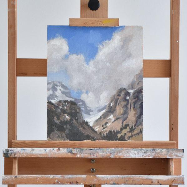 Glacier painting in oil
