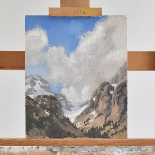 How to paint a mountain