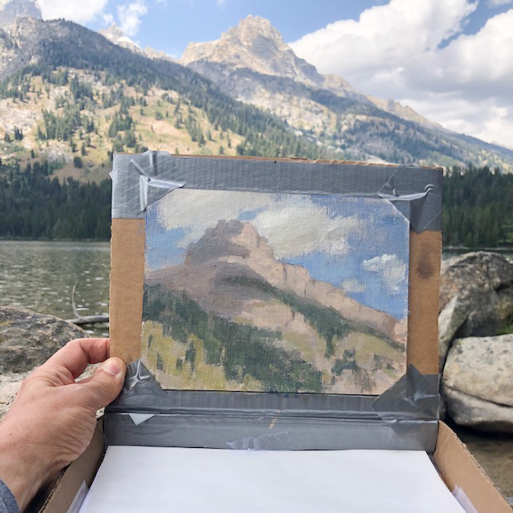 Tetons plein air painting