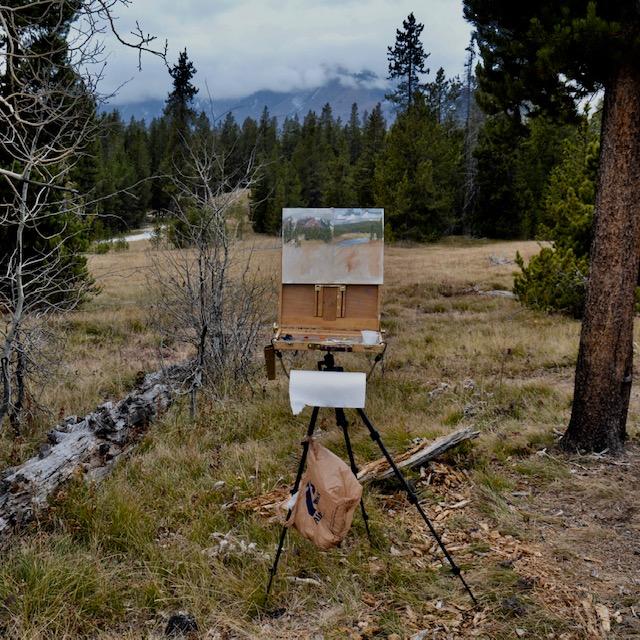 Plein air Yellowstone