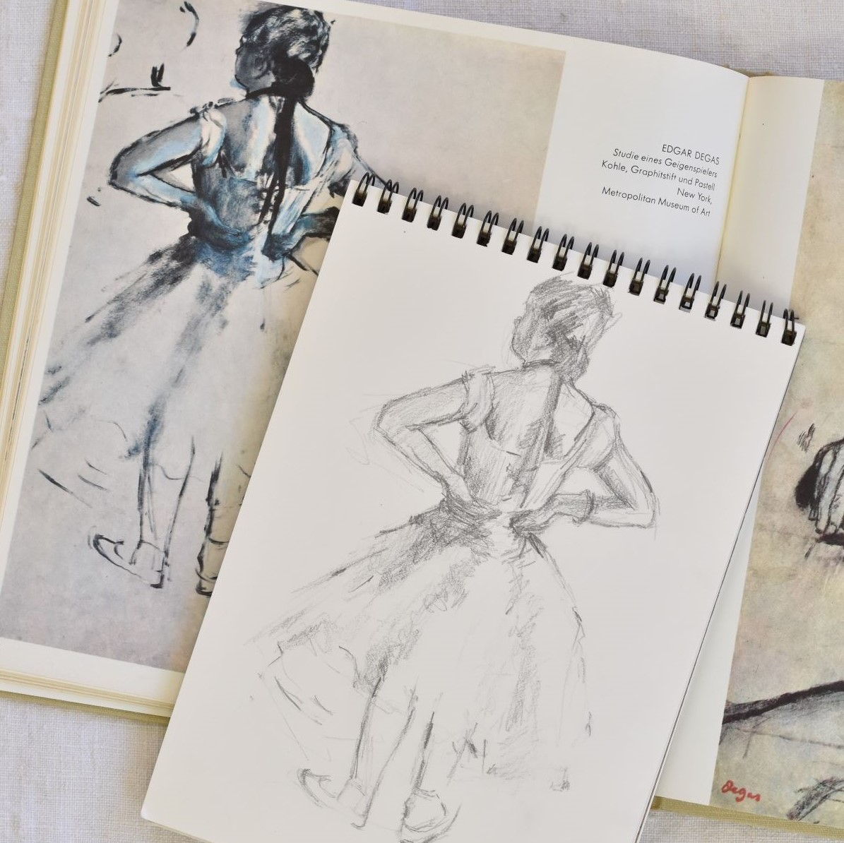 Degas drawing in pencil
