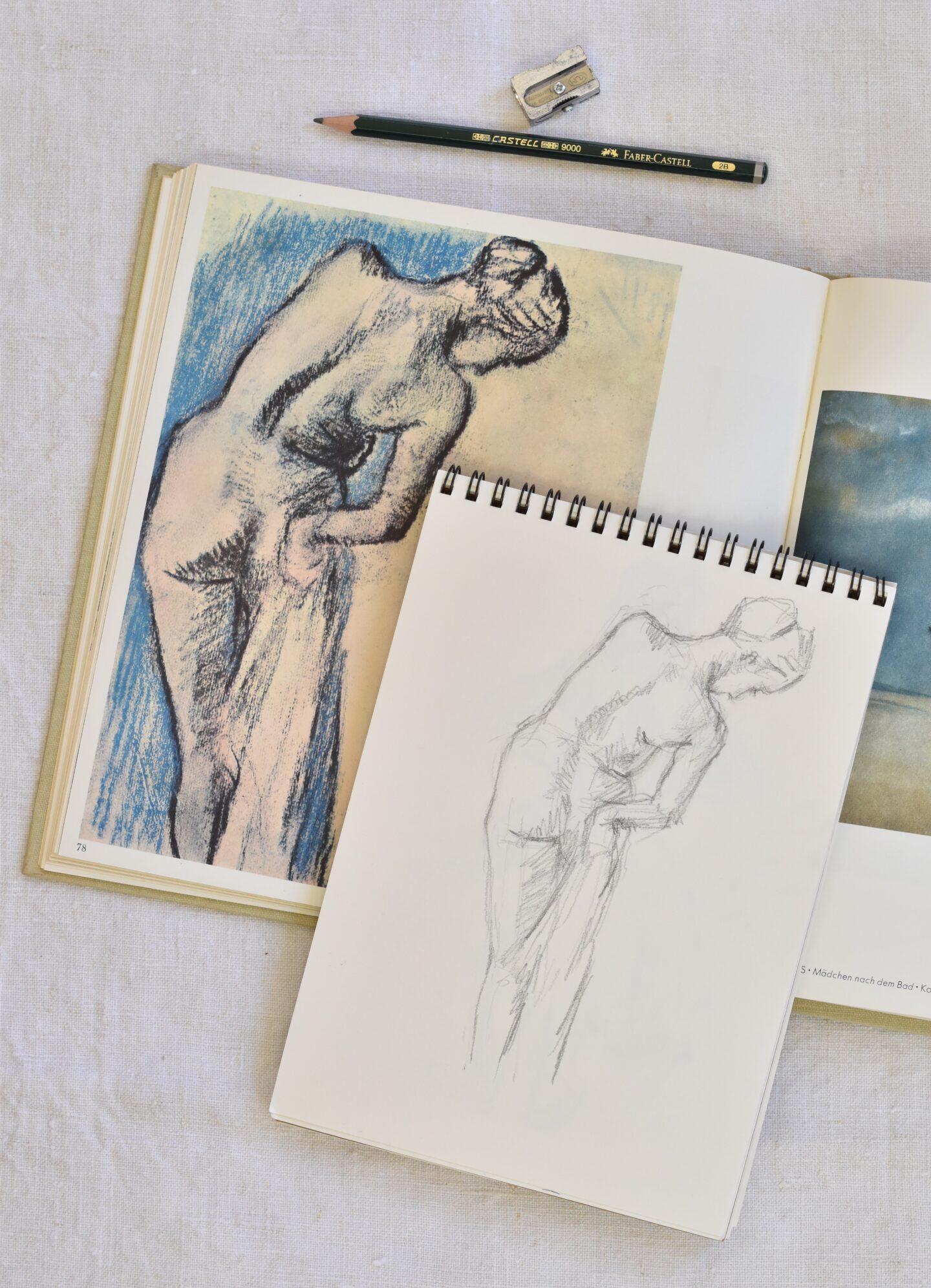 Copy of an Edgar Degas drawing