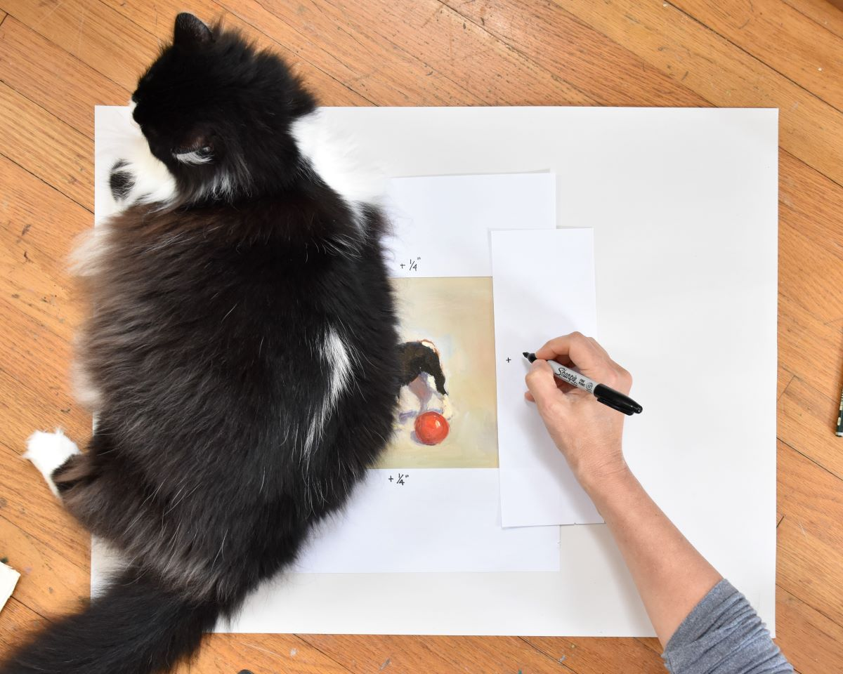 sizing canvas for framing