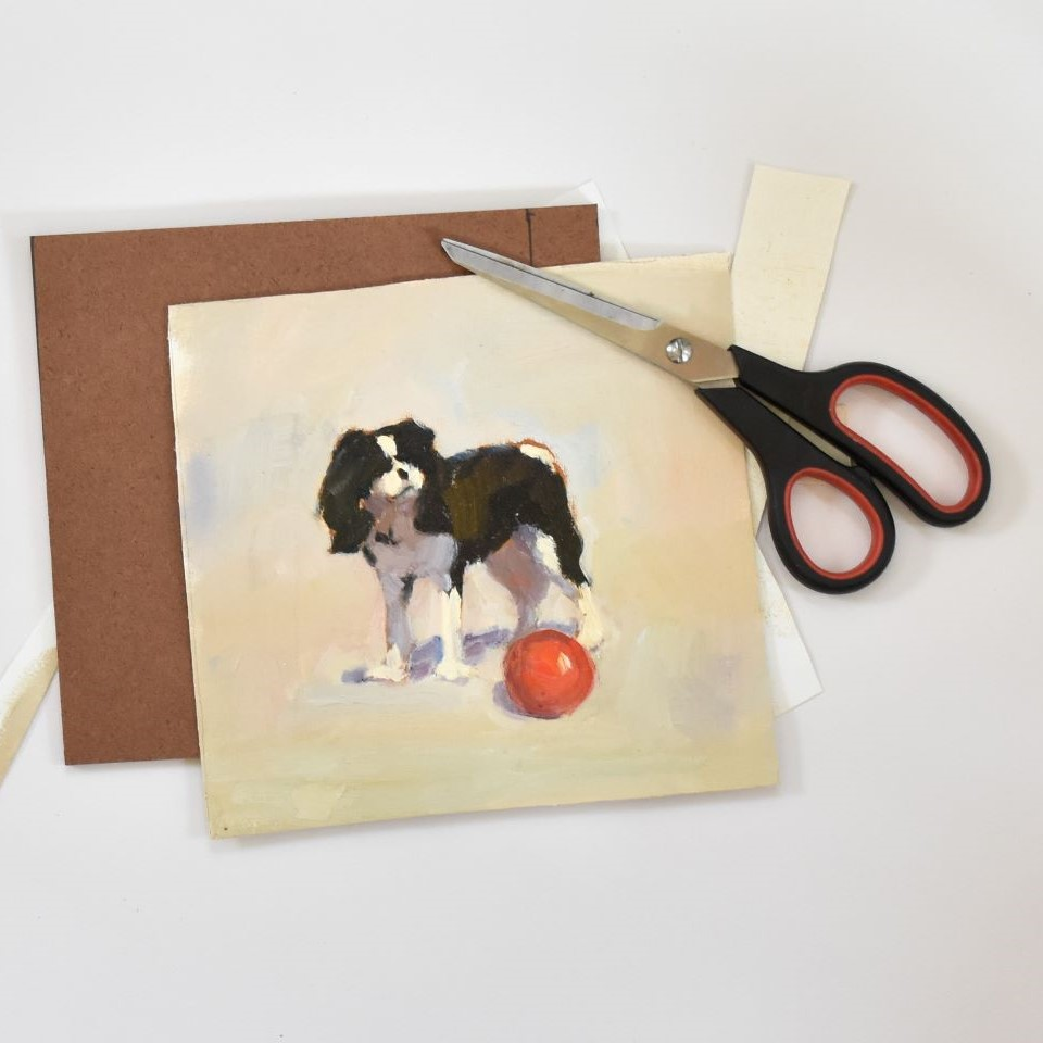 How to frame unstretched canvas